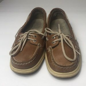 Sperry Topsider Leather Boat Shoes Size 7